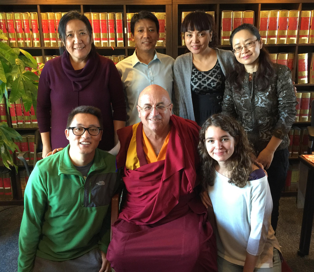 Matthieu Ricard and a handful of TBRC staff
